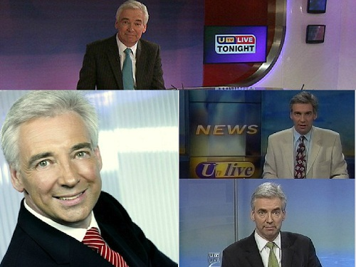 Popular  UTV news vampire anchor, Paul Clarke who has not aged since the mid 80s.